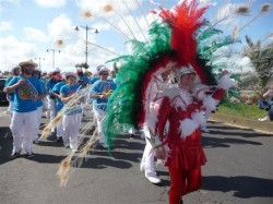 photo of group in bright carnival costumes