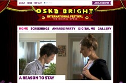 screenshot of homepage of oska bright digital space website