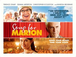 film poster for Song for Marion, showing head shots of members of the cast