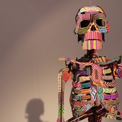 colourful image of a skeleton