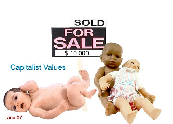 Babies for Sale photomontage by Phil Lancaster