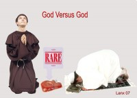 God Versus God photomontage by Phil Lancaster