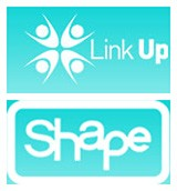 The Shape and Link Up Project logos.