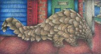 Urban Regeneration  (Coloured pencil and ink on paper) by Sue Williams